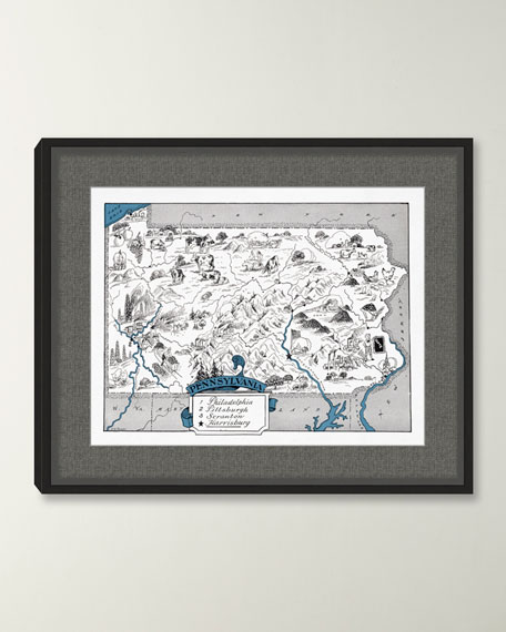 Pictorial Map of Pennsylvania