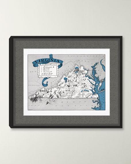 Pictorial Map of Virginia