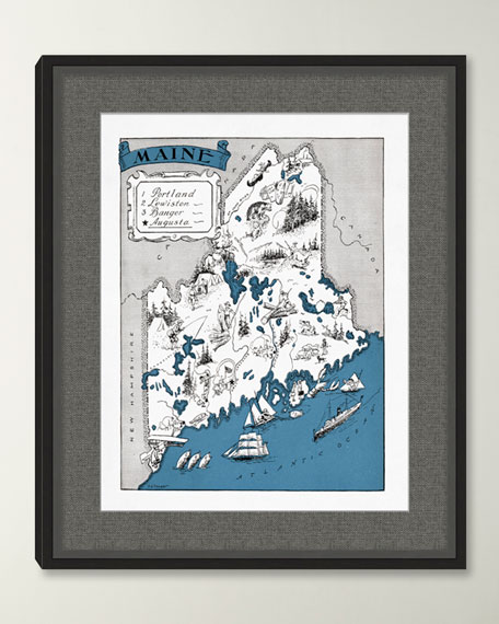 Pictorial Map of Maine