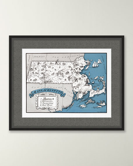 Pictorial Map of Massachusetts