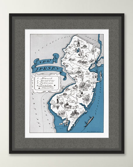 Pictorial Map of New Jersey