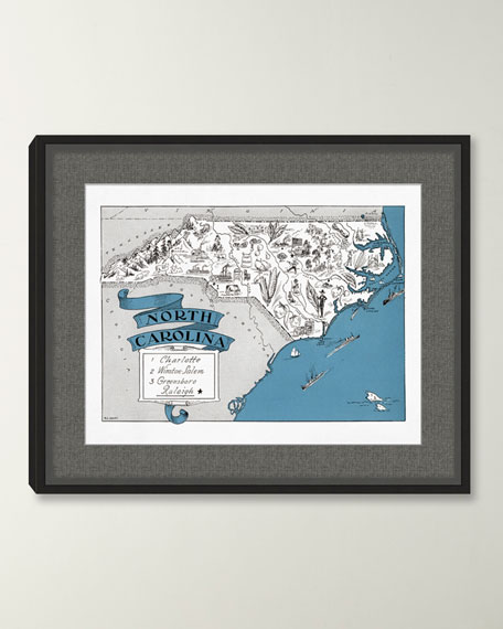 Pictorial Map of North Carolina