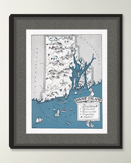 Pictorial Map of Rhode Island