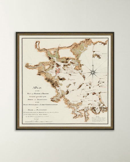 Map of Boston Bay and Harbor