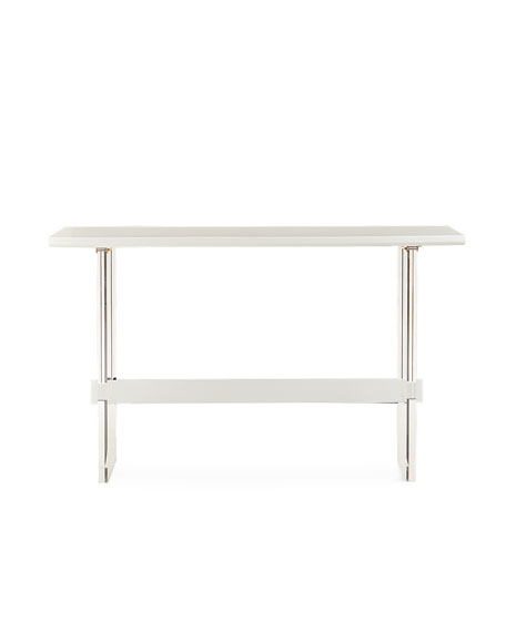 """Interlude Home Quentin Bar Height Acrylic Table, 70"""""""
