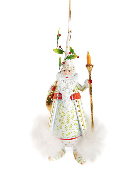 Patience Brewster Candlelight Santa Ornament