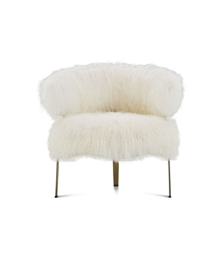 Interlude Home Darcy Sheepskin Chair