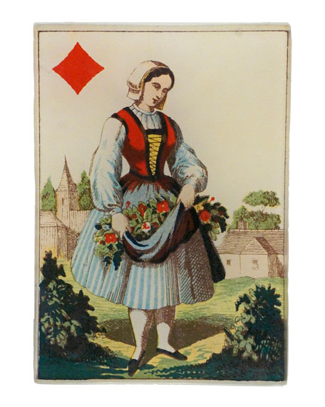 John Derian Queen of Diamonds Rectangular Tiny Tray