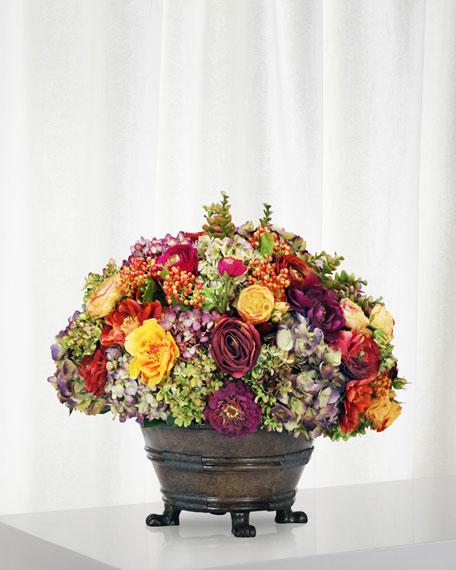 Winward Mix Floral Arrangement in Round Planter