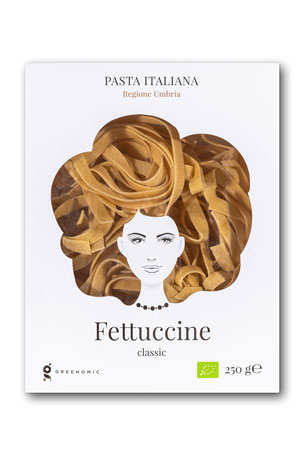 Greenomic Good Hair Day Fettuccine Classic Pasta, 8.82 oz./ 250 g