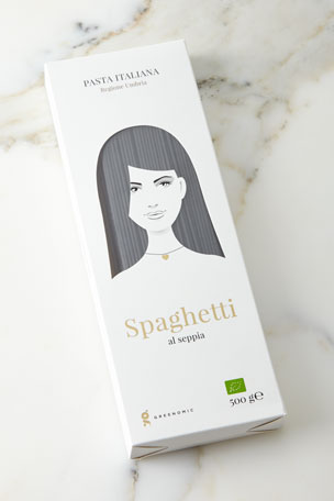 Greenomic Good Hair Day Pasta BIO Spaghetti al Seppia, 500g