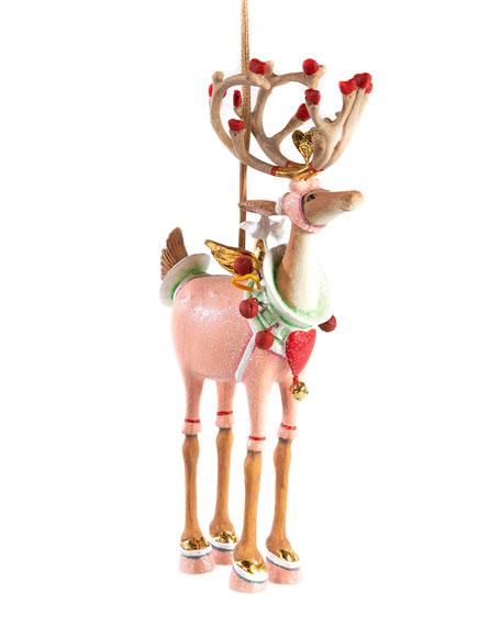 Patience Brewster Dash Away Cupid Reindeer Ornament