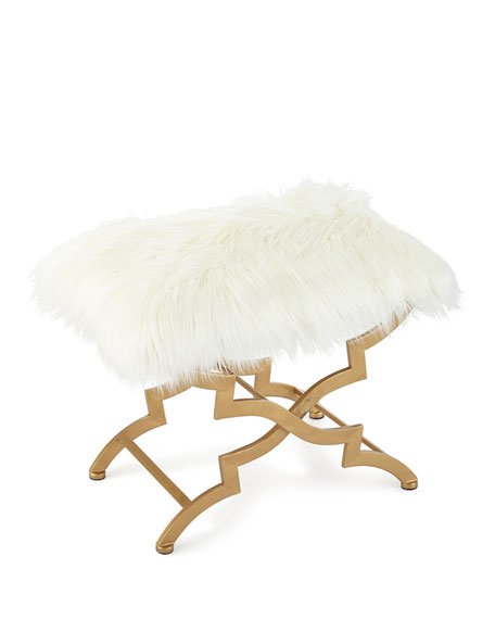 Sterling Industries Vanessa Faux Fur Bench