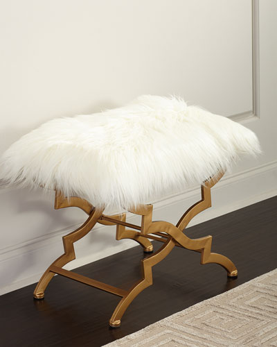 Vanessa Faux Fur Bench