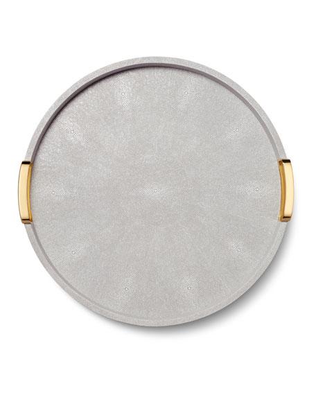 AERIN Carina Shagreen Large Round Tray