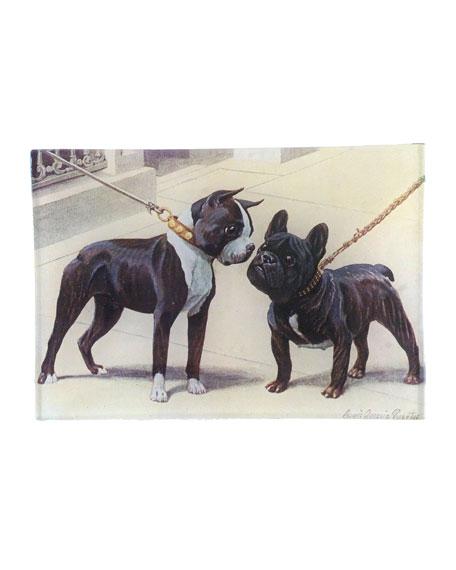 John Derian Boston Terrier French Bulldog Mini Tray