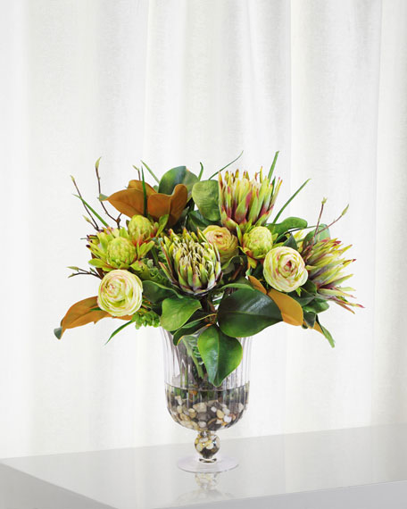 Winward Mix Tropical in Glass Vase