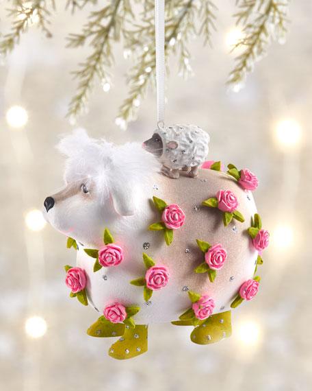 Patience Brewster Sheepdog Lamb Ornament