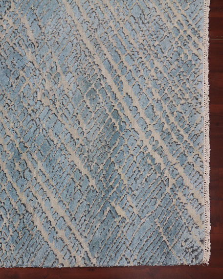 William Hand-Knotted Rug, 6' x 9'