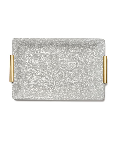 Image 2 of 2: AERIN Shagreen Small Vanity Tray