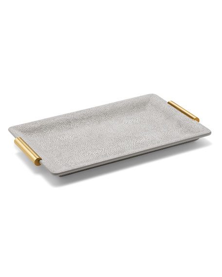 Image 1 of 2: AERIN Shagreen Small Vanity Tray