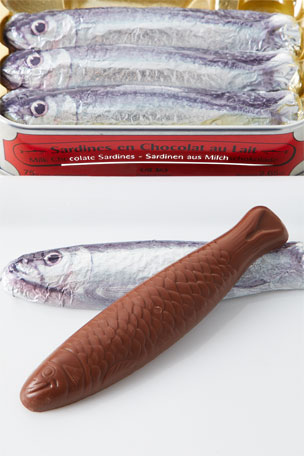 Michel Cluizel 5 Milk Chocolate Shaped Sardines in Tin