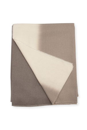 Enzo Degli Angiuoni Zelda Shaded Throw, Gray