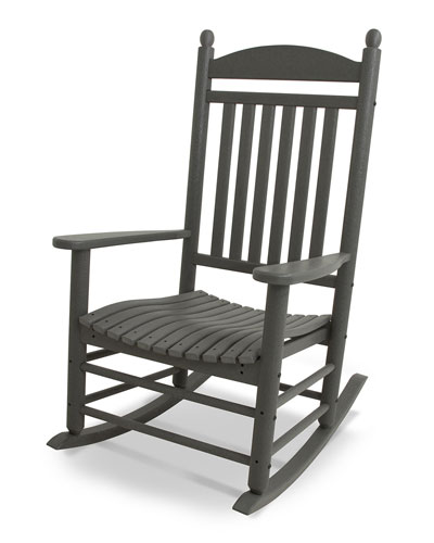 All-Weather Traditional Rocking Chair  Slate Gray
