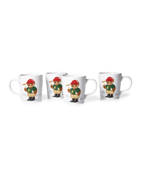 Ralph Lauren Haven Polo Bear Mugs, Set of 4