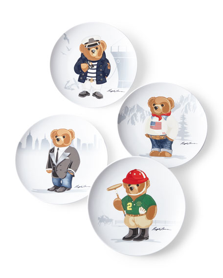 Ralph Lauren Haven Bears Assorted Dessert Plates, Set of 4