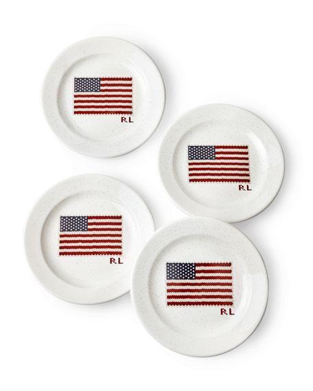 Ralph Lauren Bradfield Dessert Plates, Set of 4