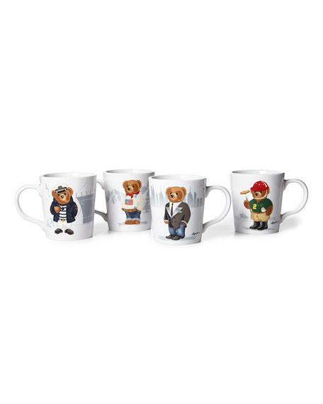 Ralph Lauren Haven Bears Assorted Mugs, Set of 4