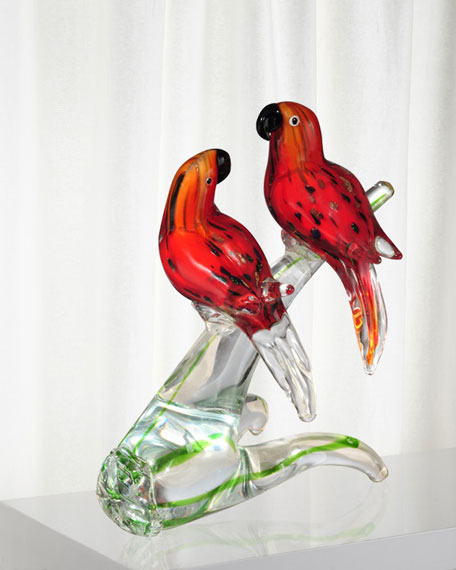 Dale Tiffany Love Birds Decorative Art Glass Figurine
