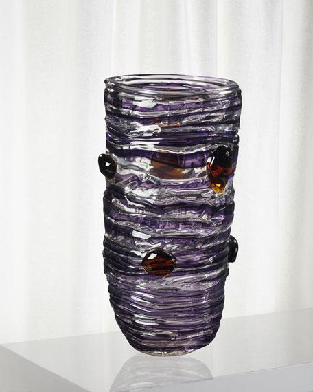 Dale Tiffany Amethyst Decorative Art Glass Vase