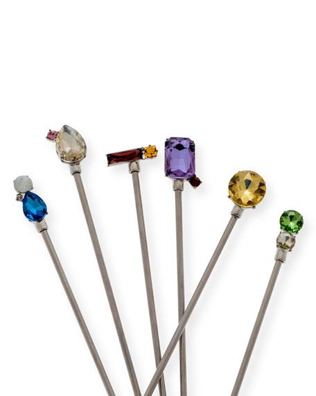 Joanna Buchanan Jewel Swizzle Sticks, Set of 6