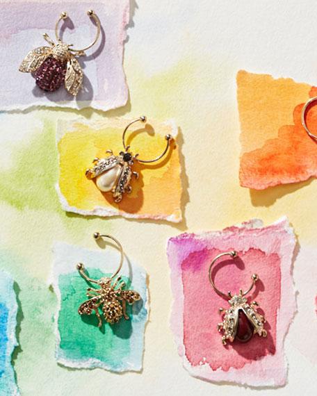 Joanna Buchanan Bedazzled Bee Wine Charms, Set of 6