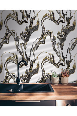Tempaper Marble Removable Wallpaper