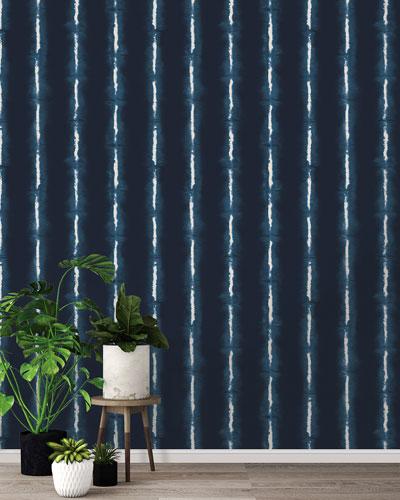 Shibori Lines Removable Wallpaper