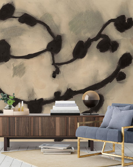 Tempaper Dark Vines Removable Wallpaper