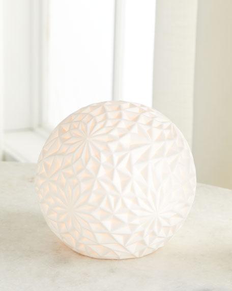 Ceramic Accent Globe Lamp