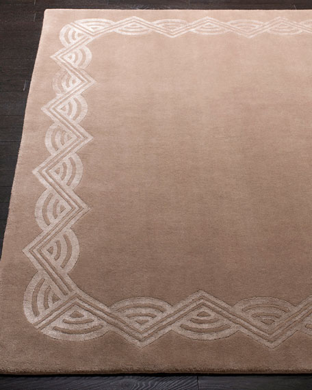 Ralph Lauren Home Dufrene Taupe Hand-Knotted Rug, 6' x 9'