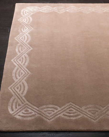 Ralph Lauren Home Dufrene Taupe Hand-Knotted Rug, 9' x 12'