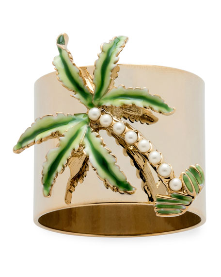 Joanna Buchanan Palm Tree Napkin Rings, Set of 2