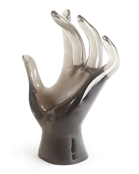 Jonathan Adler Acrylic Giant Hand Sculpture