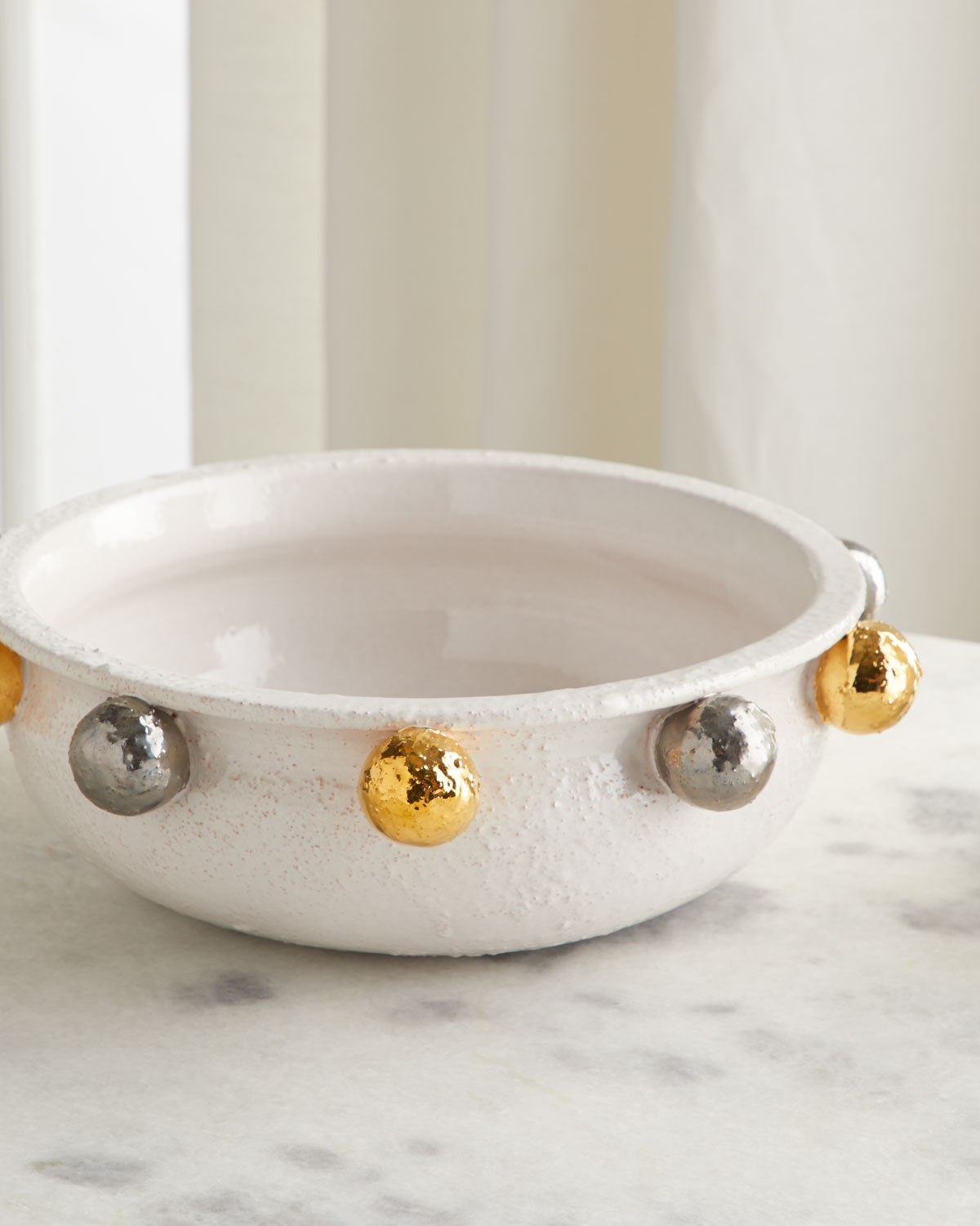Dolfi Centerpiece with Golden & Silver Spheres
