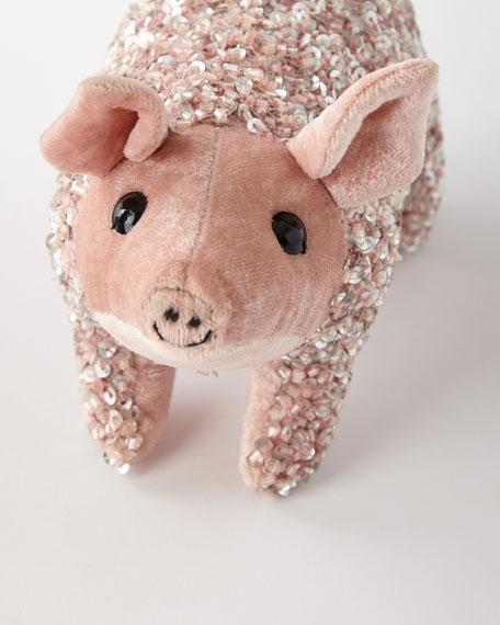 Anke Drechsel Old Rose Lux Sequins Pig Decor