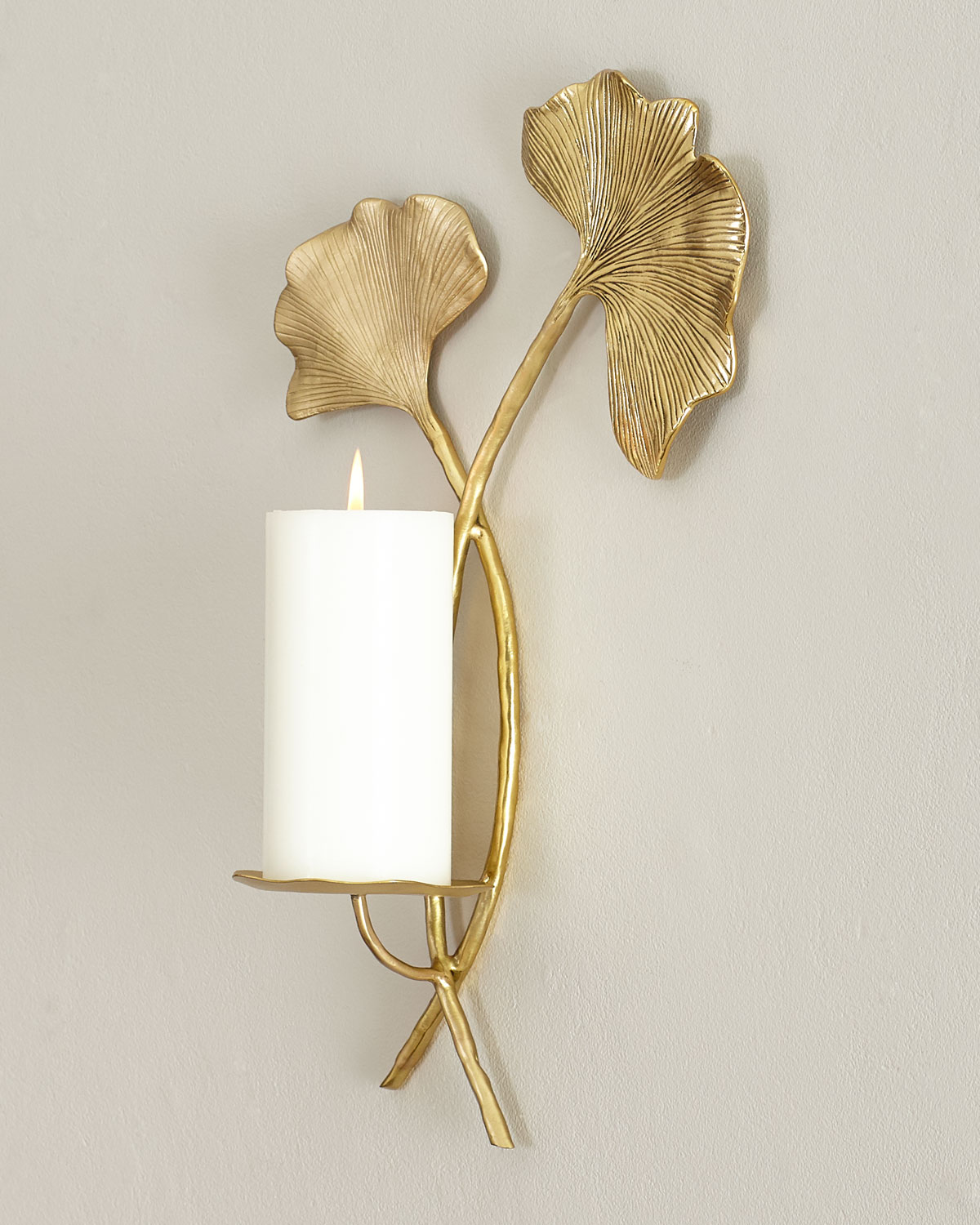 Ginkgo Candle Sconce