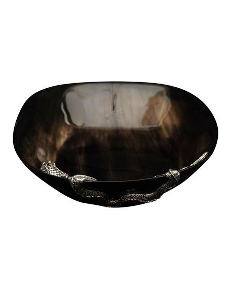 Lotus Arts de Vivre Buffalo Horn Bowl with Dragon