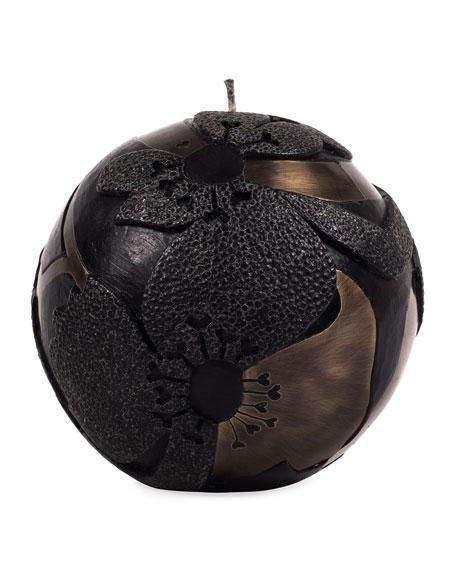 Patrick Coard Paris Sphere Small Flower Dark Candle