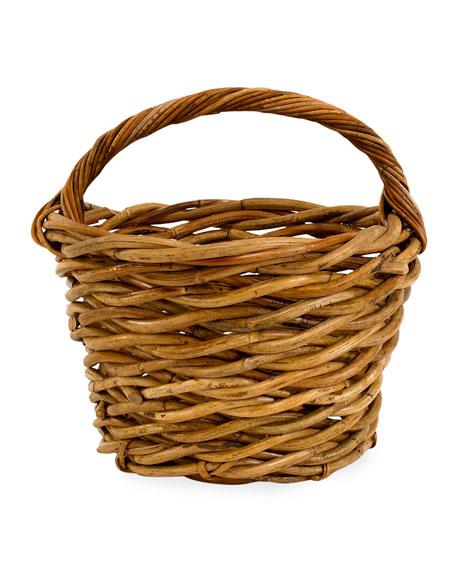Mainly Baskets Cottage Egg Gather Rattan Basket
